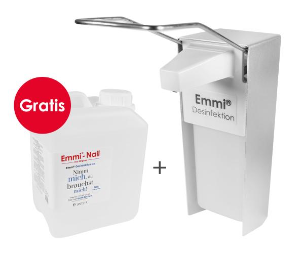 Emmi-Nail Desinfektionsspender Aluminium 1000ml + Desinfektionsmittel 2500ml