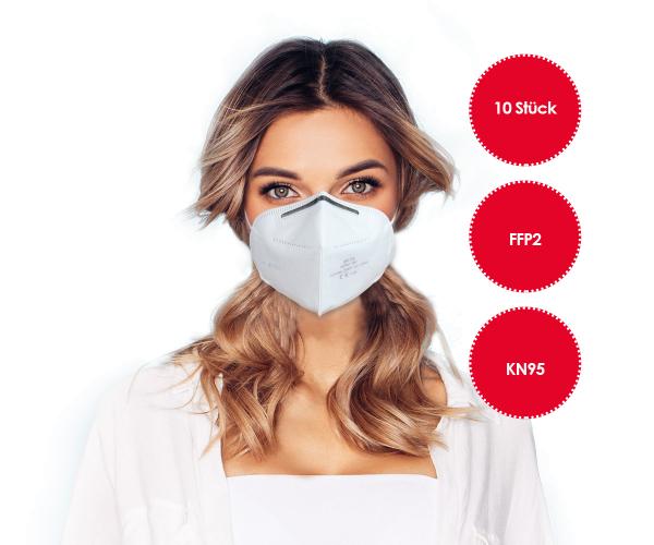 FFP2 Atemschutzmaske 10 STÜCK