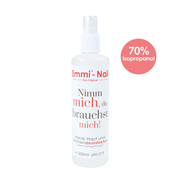 Emmi-Nail désinfection de la peau, des mains et des surfaces 250ml