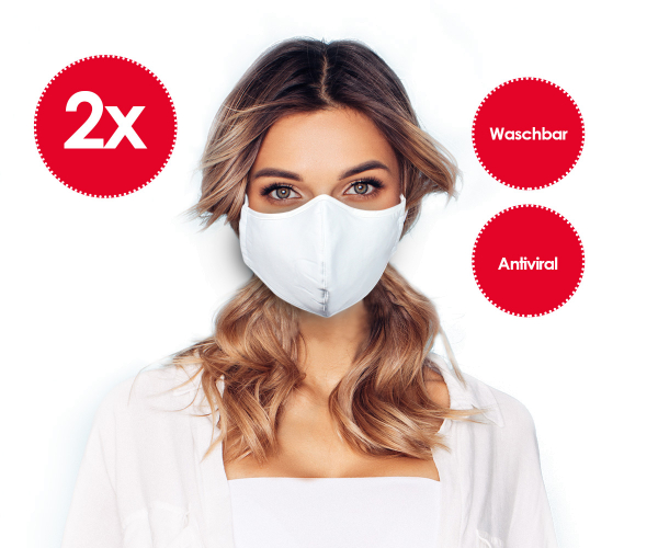 2er-Set Emmi Nanosilber Mund-Nasenmaske *waschbar* Behelfsmaske