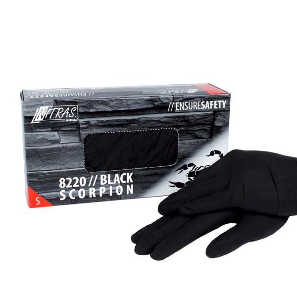 Latexhandschuhe Black Scorpion Schwarz Gr. S