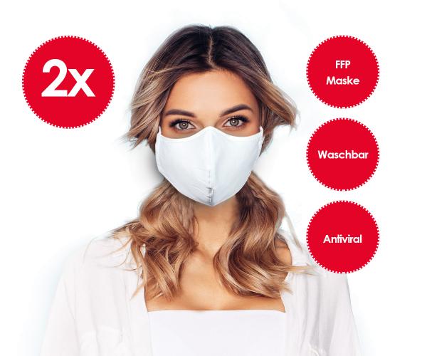 2er-Set Emmi Nanosilver FFP Mund-Nasenmaske *waschbar* Behelfsmaske